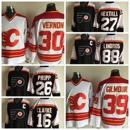 39 Gilmour Hockey Jerseys Flames New Hockey Uniform Cheap Discount Brand  Hockey Apparel Newest Sportswear Cheap Outdoor Wears a376307eda5d