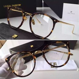 99c544390739 2016 New Linda Farrow High Quality Brand oculos LFL251 18K gold plating  occhiali optical glasses women glasses de sol lunette de soleil