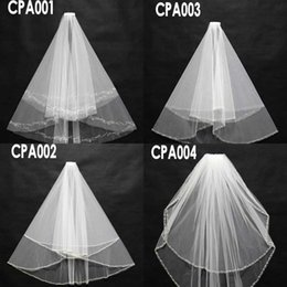 Discount short veil styles - Bridal Accessory In stock 100% Real Images Bridal Wedding Veils 2015 Four Styles Crystals Beading Short Beach Formal Wed