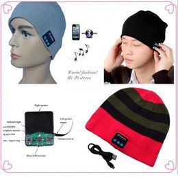 Bluetooth Musik Hut Soft Keep Warm Beanie Cap Stereo Kopfhörer Lautsprecher Drahtloses Mikrofon Multifunktions Voice Wireless Caps
