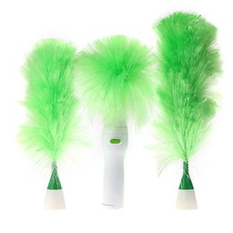 Electric Multifunctional Duster Set Motorized Cleaning Brush Green Feather Dusters For Blinds Furniture Keyboard Window Brushes