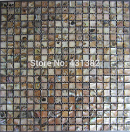 mother pearl kitchen Canada - HYRX shell mosaic tile;sea flower shell Dye black color;mother of pearl mosaic tiles;tile backsplash;kitchen mosaics;