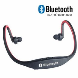 Iphone Speaker Blue Canada - Headphone S9 Wireless Stereo Headset Sports Bluetooth Speaker Neckband Earphone Bluetooth 4.0 With Retail Package 20 Pieces UP DHL