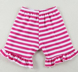 Discount hot girls cotton panties - Hot Sale Girls Boutique Short ,Ruffle Striped Baby Girls Shorts,6T cotton Knit summer baby panties