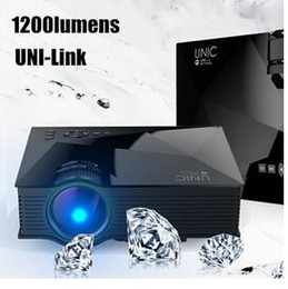 Portable Wireless Hdmi Canada - 2016 New 1200 Lumens UNIC UC46 Portable HD LED Mini Pocket WIFI Wireless Miracast Airplay Dlna Mobile Handheld Home Projector Beamer DHL