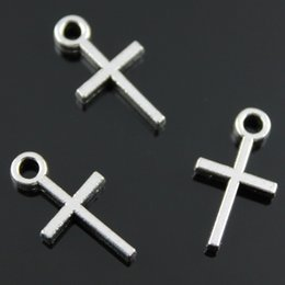 $enCountryForm.capitalKeyWord NZ - 200pcs lot 18*10mm antique silver color zinc alloy cross charm DIY for handmade
