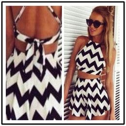 Show caSual dreSS faShion online shopping - Striped Mini Skirts Party Dresses Sexy Beach Dresses Women Short Party New Arrival Occident Fashion Show Stripe Sleeveless Suits
