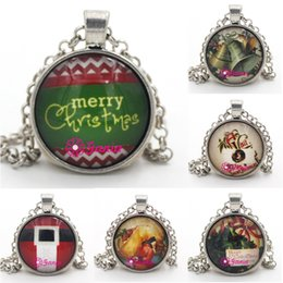 merry christmas pendant NZ - New Arrival Christmas Jewelry Cabochon Necklace Merry Christmas Ball Pendant Necklace Jewelry for Merry Christmas