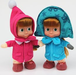 $enCountryForm.capitalKeyWord NZ - Masha Doll Cartoon Martha Marsha plush Stuffed Soft toys PP Cotton masha doll singing Russian song in stock