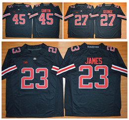 87976c644 ... College Football 2015 New Style Ohio State Buckeyes 45 Archie Griffin 23  Lebron James 27 Eddie George Jersey ...