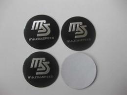$enCountryForm.capitalKeyWord Canada - 4Pcs Black MS MazdaSpeed Aluminum Alloy Car Wheel Center Hub Caps Sticker Emblem