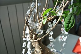 Acrylic Bead Garlands Wholesale Canada - FREE SHIPPING 330 ft clear acrylic garland wedding tree garland crystal bead chain for wishing tree decor supply party festive decor