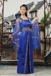 Beau Costume Pour Princesse Pas Cher-12 couleurs traditionnelles femmes Tang Ancient Costume chinois Belle Danse Hanfu Costume Princesse Dynastie Opéra Hanfu Chinois Robe