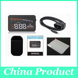 Car Security Alarm Systems Canada - 3 inch X5 Car HUD Head-up Display Alarm Security System Fuel Consumption Head Up Display for All Vehicles 002988