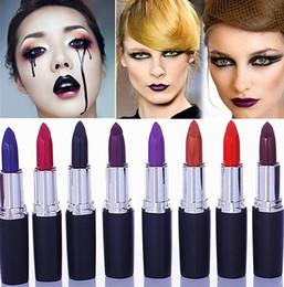 $enCountryForm.capitalKeyWord Canada - New Waterproof lipstick Vampire Style 8 colors Cosmetic Matte Lip Stick Long Lasting matte purple black lipstick 8 Colors Free Shipping