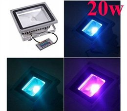 Color Changing Floodlight Waterproof NZ - 20W RGB LEDLed RGB Floodlights Color Changing Out Led Flood Lights Waterproof IP65 Led Garden Lights AC 85-265V + Remote Control