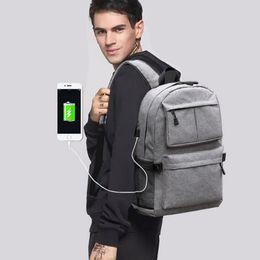 $enCountryForm.capitalKeyWord NZ - Unisex USB Design Backpack Book Bags for School Backpack Casual Rucksack Daypack Oxford Canvas Laptop Fashion Man Backpacks