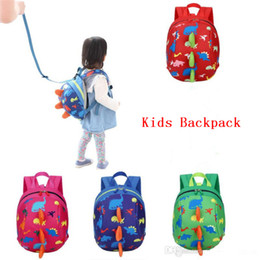 Discount baby harness reins Kid Anti-lost Backpack Dinosaur Backpack Baby Walking Safety Harness Reins Toddler Leash Cute Cartoon Backpack
