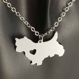 wholesale dog lover gifts NZ - Norwich Teerier Pendant Necklace 304 Stainless Steel Animals Women Charm Pendants Pet dog lover Necklaces Children Gifts