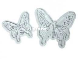 $enCountryForm.capitalKeyWord UK - Fashion Hot 2pcs lot Butterfly Cake Fondant Decorating Sugar craft Cookie Plunger Cutters Mold