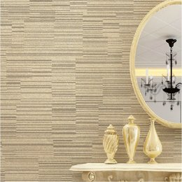 Cream Beige Brown Metallic Design Horizontal Stripes Pinstripe Wallpaper  Roll Non Woven Wallpaper For Living Room Bedroom W100