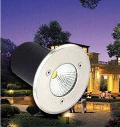 AC85-265V 10 W Branco Quente / Branco / Frio Branco COB Epistar LEVOU chip de LED Luz Subterrânea Lâmpada À Prova de Choque À Prova de Choque de Alta-potência de Vidro Temperado venda por atacado