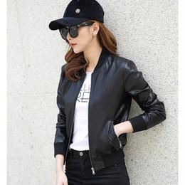 $enCountryForm.capitalKeyWord Canada - Wholesale- New Motorcycle Faux Leather Zip b Jacket Women Slim Short Design Autumn Leather Coat Female Clothing High Quality