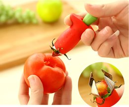 Superior Kitchen Accessories Fruit Vegetable Corer Tools Strawberry Tomato Stem  Digging Pedicle Leaves Huller Remover Remove Tool 50pcs