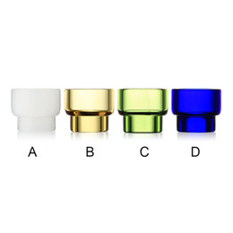 Discount rda glass tanks 528 Drip Tips Glass 810 Wide Bore Drip Tip Fit 528 GOON Kennedy RDA Atomizer Tank Colorful E Cigs