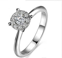 $enCountryForm.capitalKeyWord Canada - Free Shipping 18K White Gold Plated Three Stone Rings 925 Silver Wholesale Drop Shipping Free Simulated Diamond 1 Cm Band Wedding Anniversar