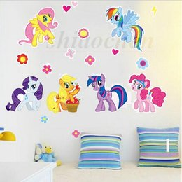My Little Pony Wall Stickers Pvc Mural Diy Backdrop Bedroom Living Room Poster Wallpapers Tv Wall Stickers Home Wall Nursery Decor A481 500