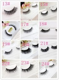 big eyes fake eyelashes 2020 - 100% mink eyelashes handmade fur fake eyelashes Natural thick cross eye end stretch big eye makeup manual eyelashes