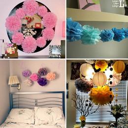 "Blue Yellow Green Tissue Pom Canada - A96 10pcs lot 6"" Tissue Paper Pom Flowers Balls Wedding Birthday Party Decor"