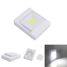 Chinese  Magnetic LED Night Light Ultra Bright Mini COB Wireless Wall Light with Switch Magic Tape for Camp Lamp Indoor manufacturers