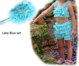 $enCountryForm.capitalKeyWord Canada - Hot sale summer baby clothes Set petti lace romper + flower headband girl fashion infant toddler romper 2 pcs 8 style option! QX