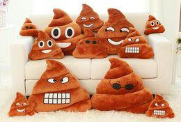 Shit Plush Toys Canada - 50PCS Hot Decorative Cushion Emoji Pillow Gift Cute Shits Poop Stuffed Toy Doll Christmas Present Funny Plush Bolster Pillows