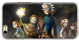 Custom Printed Iphone Cases UK - Newest Exclusive Custom 3D Print Rick and Morty Cases for iPhone X ,8,8Plus,7,7plus,6,6s,6p,6s Plus, 5 Silicon Edge iPhone TPU Cases R05