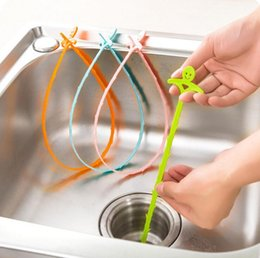 $enCountryForm.capitalKeyWord Australia - cartoons plastic sink drain dredge pipeline hook hair cleaning hook kitchen toilet bathroom cleaning filter strap pipe hooks