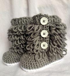 Crochet Baby Boots NZ - Baby cowboy cowgirl winter crochet knitted prewalker shoes snow booties first walker shoes newborn infant bo Girl Boots-Newborn to 12 Months