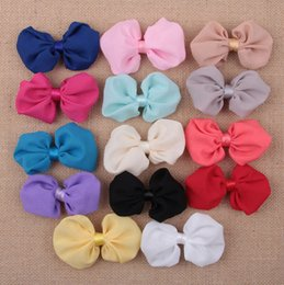 Ruban En Mousseline De Soie Pas Cher-Bowknot Flower For Baby Headbands diy chiffon Fleur pour cheveux Accessoires Corsage Big ribbon bow Headdress Flower DIY Accessoires de vêtements