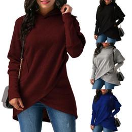 361d4dfa7f7a Senhoras Moda Casual Inverno Outono de Manga Comprida Hoodies Tops Das  Mulheres Queda Jumper Com Capuz Camisa Camisolas Cor Sólida