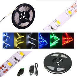 Super Bright Led Strip Light Flexible 5630 SMD 300 LED 5M Warm White Cool 12V Waterproof 6A Power Supply For Bedroom Living Room