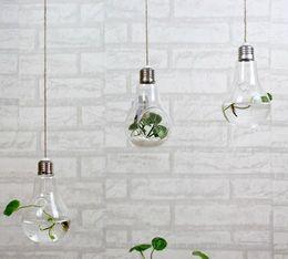 $enCountryForm.capitalKeyWord NZ - 2015 fashion light bulb shaped glass hanging bulb vases clear air planter terrarium hanging vases for Christmas Ornaments home decor