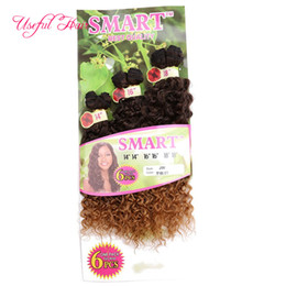 Smart Hair Canada - SMART BEST QUALITY synthetic weft hair ombre color Jerry curl crochet hair extensions braiding crochet braids hair weaves marley twist
