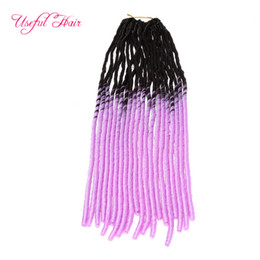 red synthetic braiding hair UK - linght purple OMBRE MIX COLOR FAUX LOCS SofT braid in bundles dreadLOCKS SYNTHETIC braiding crochet braids HAIR MARLEY hair extensions JUMBO