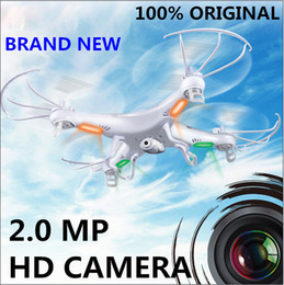 Syma Gyro Quadcopter Canada - New Version SYMA X5C 2.4GHz 4CH HD FPV Camera 6 Axis RC Helicopter Quadcopter Gyro 2GB TF Card with 2MP Camera RM475