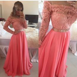 Discount plus size fairy prom dress 2019 Long Sleeves Charming Formal Evening Dresses Appliques Beaded Floor Length A Line Party Gowns Prom Wear Fairy Tale