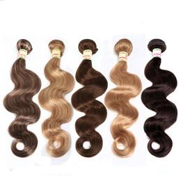 Red haiR weave extensions online shopping - Brazilian Virgin Hair Body Wave Hair Weave Bundles Unprocessed Virgin Brazilian Body Wave Human Hair Extensions Red Brown Blonde