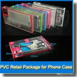 Display Cases For Retail Canada - Universal Mobile Phone Case Package PVC Transparent Plastic Retail Packaging Box for iPhone Samsung HTC Cell Phone Case
