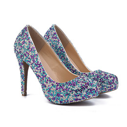 $enCountryForm.capitalKeyWord NZ - New Closed Toe Platform Wedding Party Shoes Free Shipping Women Shoes Sapatos Femininos Mixcolor Crystal Lady Prom High Heels
